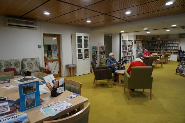 생활보조 형태(Assisted Living)로 입주한 노인들이 이용할 수 있는 커뮤니티 센터.