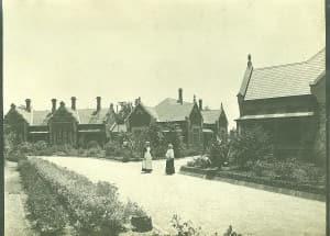OCAV 루셸마을의 초기 모습. 빅토리아주 정착민들에 의해 조성됐다.