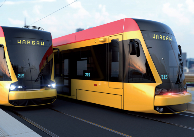 현대로템이 폴란드 수도인 바르샤바 트램운영사에서 발주한 3358억원 규모의 트램 123편성을 낙찰받았다고 12일 밝혔다. 사진은 바르샤바 트램 구상도. 연합뉴스