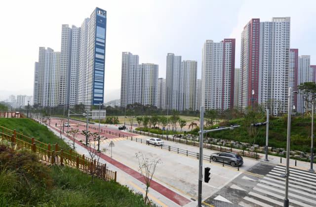 21일 오후 3시부터 전면 개통될 창원시 의창구 중동지구./성승건 기자/