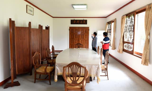 이승만 전 대통령 별장 식당 겸 회의실.