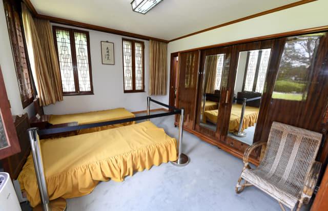 이승만 전 대통령 별장 침실.