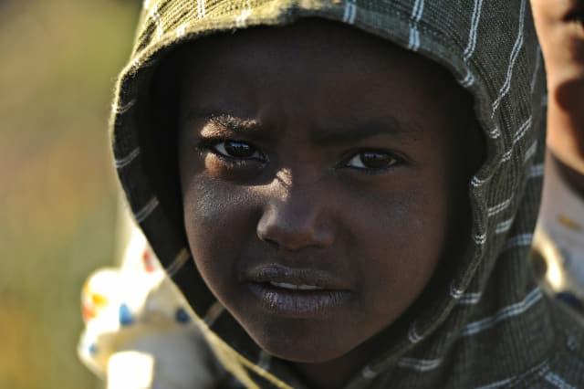아프리카 에티오피아에서 만난 아이.