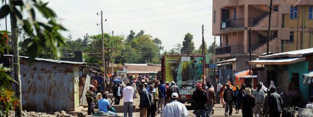 에티오피아의 코카콜라 자동차.