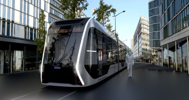 현대로템이 개발 중인 도심용 수소전기열차(트램)./현대로템/