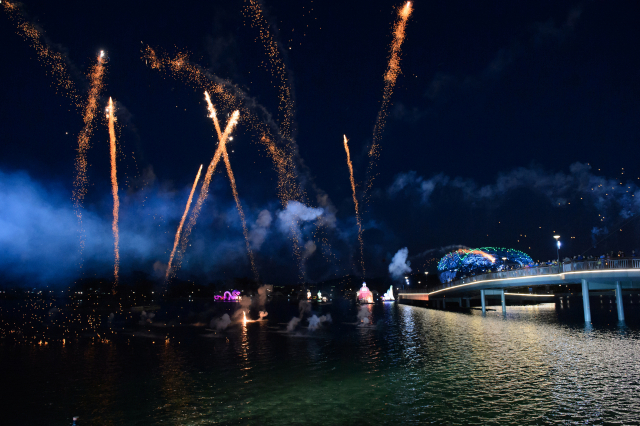 호수공원 축제 불꽃놀이.