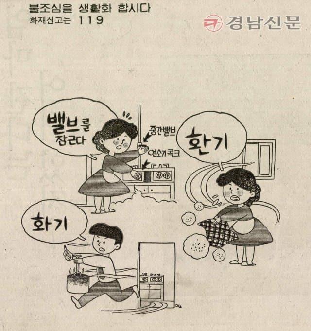 1987년 12월 16일 9면 경남에너지 불조심 광고.
