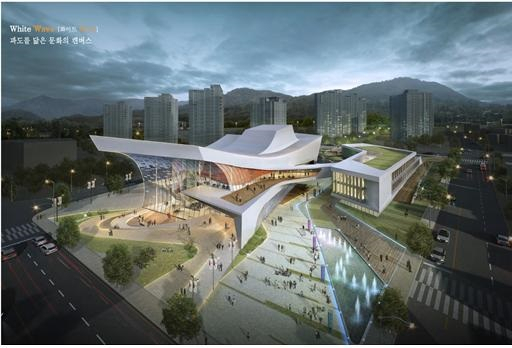 '진해문화센터·도서관(가칭)' 조감도./창원시/