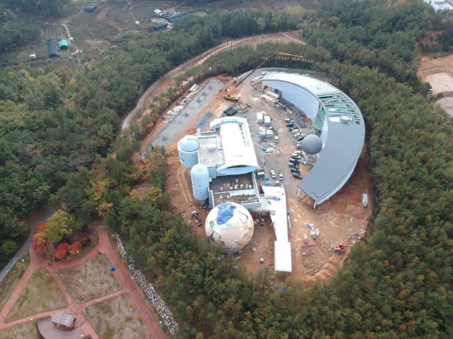 공사중인 우주천문대, 기상과학관
