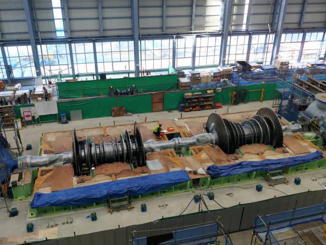 고성하이발전 1·2호기 터빈의 모습.