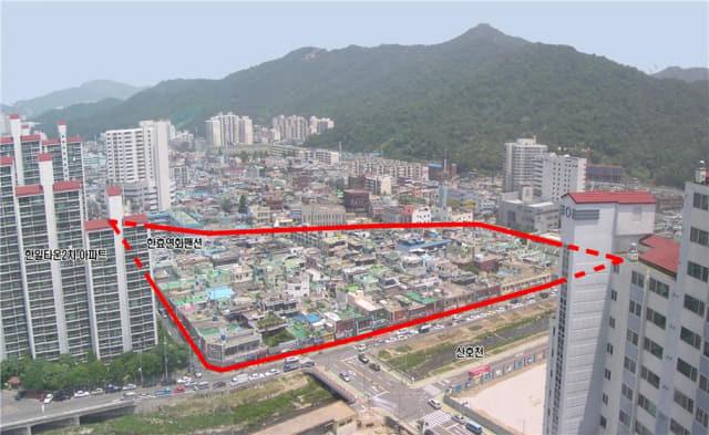 해제된 창원시 마산회원구 양덕2구역 주택재개발 정비예정구역 일대./창원시/