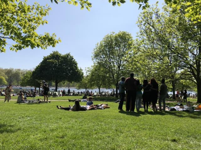런던 대표 공원 하이드파크.