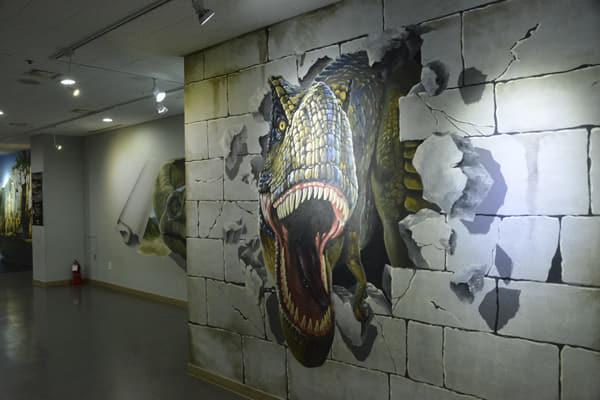 고성공룡박물관 내 트릭아트.