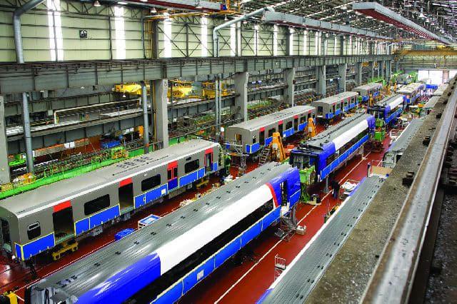 현대로템 창원공장의 철도차량 제작 의장공장