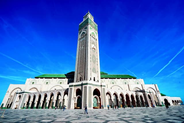 대서양 위에 세워진 하산 2세 모스크.