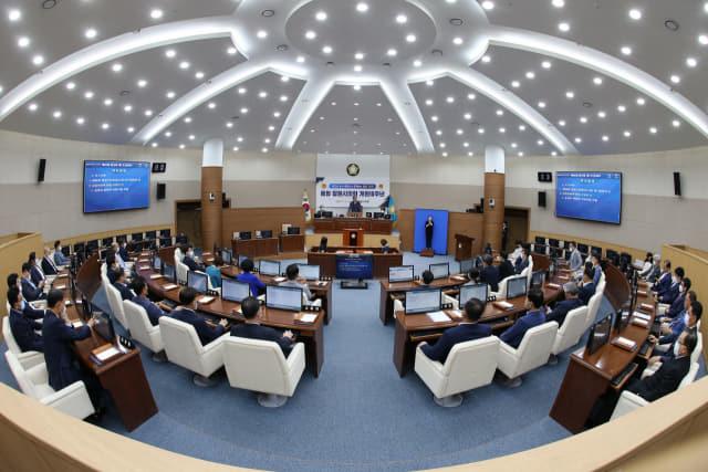 지난 1일 제96회 창원시의회(임시회) 1차 본회의가 열리고 있다./창원시의회/