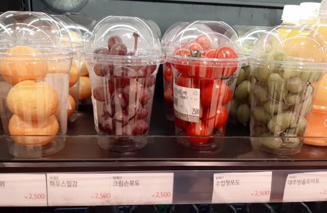 롯데백화점 창원점이 내놓은 소포장 과일.