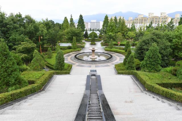 창원수목원의 유럽 정원.