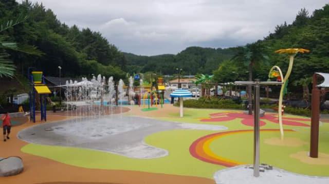 오는 5일부터 임시 운영하는 진양호공원 어린이 물놀이터./진주시/