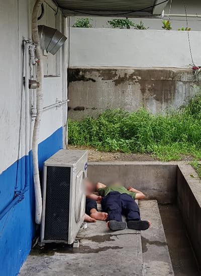 6일 오전 창원 합성동 마산시외버스터미널 하차장에서 술에 취한 채 자고 있는 주취자들.