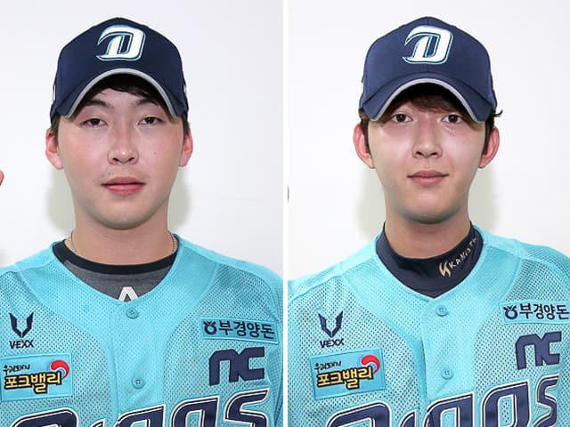 왼쪽부터 문경찬 박정수 선수./NC다이노스/