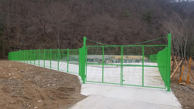 사천시 곤명 원전마을에 건설된 하수처리시설./사천시/