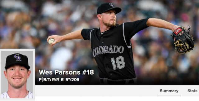 웨스 파슨스./MLB.com 홈페이지 캡쳐/