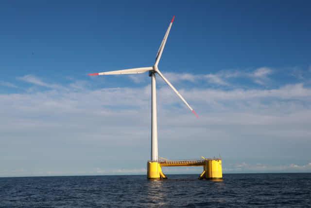 부유식해상풍력발전 실증 단지 자료사진.