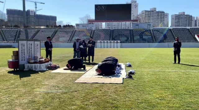 경남FC가 19일 2021시즌 개막 앞두고 승리 기원제를 지내고 있다/경남FC/