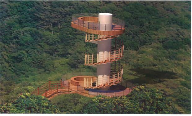 마산 청량산 해양전망광장 조감도.