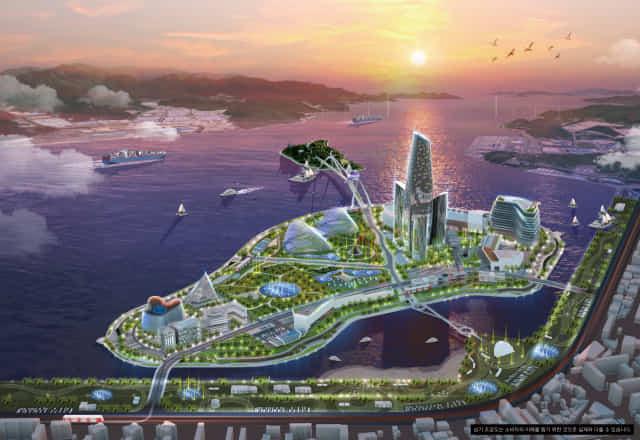 마산해양신도시 상상도.