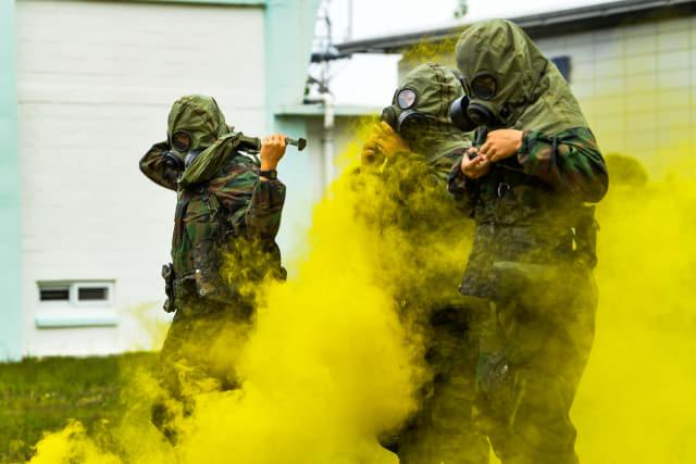 공군5비, 비행단 훈련 종합 경연대회 개최/오전비