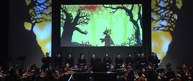 지난해 온라인 공연으로 열렸던 창원시립교향악단 가족음악회 그림자극 '마술피리' 한 장면./유튜브 캡처/