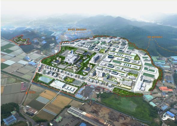 함안군 군북일반산업단지 내에 건립될 천연가스발전소 조감도.