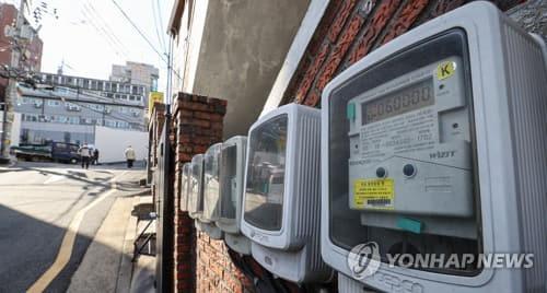 3월 22일 서울 서대문구 주택가에 설치된 전기 계량기. [연합뉴스 자료 사진]