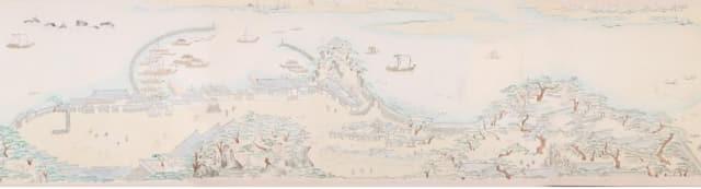 20세기 초 조선시대 부산포에 있는 초량왜관과 주변 일대를 그린 '초량화관지도'./부산박물관/