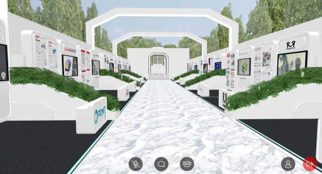 최근 창원컨벤션센터서 열린 '2021 제조자동화기술전(KOFAS)'에서 메타버스로 구현된 기업체 홍보 부스 모습./화면 캡처/