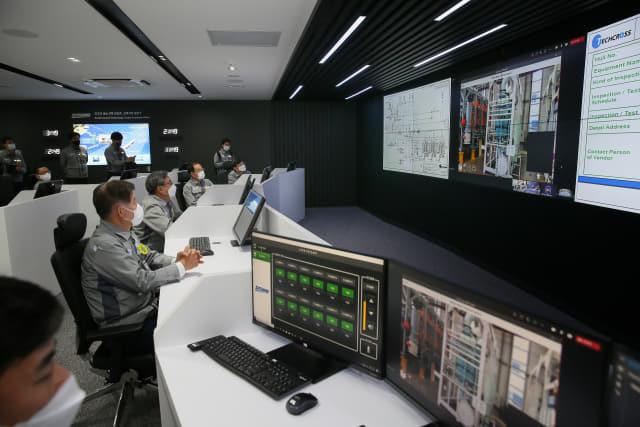 대우조선해양 옥포조선소 제1생산지원센터 건물에 자리한 디지털 생산센터.