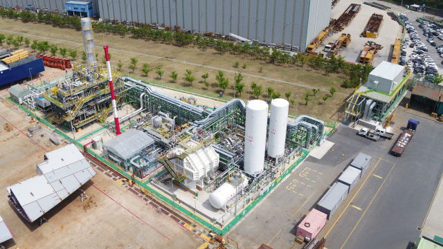 거제시 연초면 한내조선특화농단 내에 구축된 LNG실증설비. 국내에서 유일한 시설이다./삼성중공업/