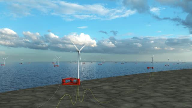 노르웨이 국영 에너지 기업 에퀴노르가 울산 앞바다에 조성 계획인 반딧불 부유식 해상풍력발전단지 일러스트./에퀴노르/