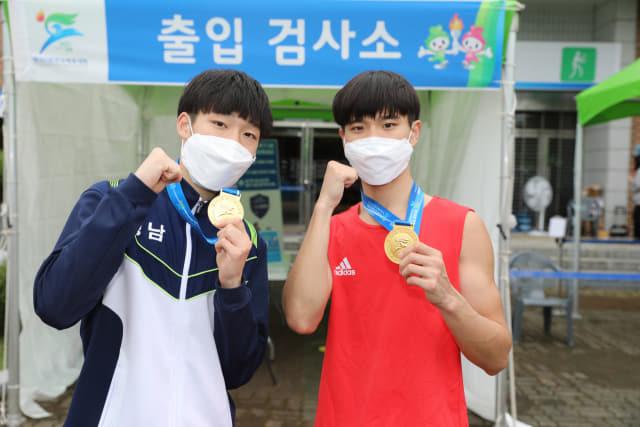 복싱 금메달 리스트(왼쪽부터) 김주환, 서민제./경남체육회/